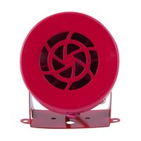 air raid siren - Easy mounting V Automotive Motorcycle Horns Air Raid Siren Horn Car Truck Motor Driven Alarm Red Universal Car Horns Speaker