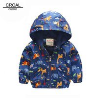 baby boy windbreaker - 90 cm Animal Baby Girls Jacket Active Hooded Outerwear Coats Boys Kids Children Clothing Giraffe Printing Jacket Windbreaker