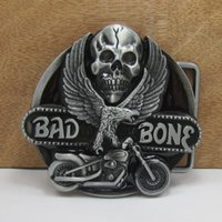 bad companies - Eagle motorcycle and the skull belt buckles unique Silver bad bone belt buckle Texas Western Buckle Retail company