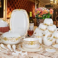 Wholesale Jingdezhen ceramic bowl suits superior grade bone china tableware combinations