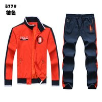 Wholesale POLO Men s Zipper cardigan Sport Suits Tracksuits Hoodies Fashion Coats Jacket Pants Sportswear hoodies