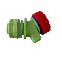 Wholesale Home wine beer juice tap faucet plastic spigot for keg barrel mm inlet silver color
