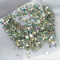 ab pack - Top Quality Pack Mix Sizes Crystal Clear AB Non Hotfix Flatback Rhinestones Nail Rhinestoens For Nails D Nail Art Decoration DIY