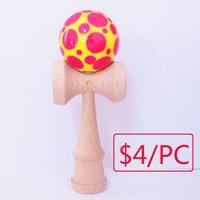 Wholesale 2016 NEW cm kendama basketball baseball kendama toy beech toy The high quality kendama ball game