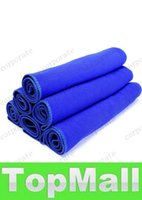 Wholesale LAI Blue x70cm Microfiber Towel Car Cleaning kitchen towel ultra absorbent Washing Cloth Car