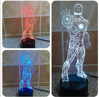 aa offers - 2016 Hot Special Offer New Style Iron man D Optical Night Light LEDs DC V AA Battery Gift
