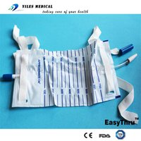 autoclave bags - 10 Disposable ml urine drainage leg bag with strap for single use autoclave sterilizer
