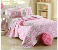 ballet bedding - New Style bedding set Pink ballet princess Handmade quilt kids bedding set applique patchwork quilt quilting Pillow covers