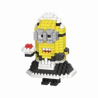 Wholesale Maid Minions Despicable me Diamond Building Blocks Cartoon Characters Best Gift Toys For Children Model Mini Bricks