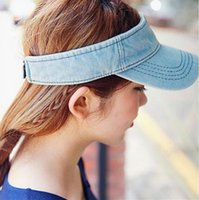 Wholesale Korean style golf baseball cap cowboy sweat empty top hat visor cap female summer sports