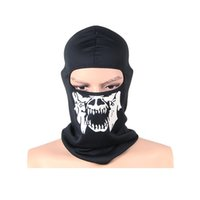 Wholesale Winter bike mask CS skull mask odd and even plate ski mask outdoor riding mask warm wind mountaineering parts supplies