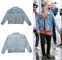 beige jean jacket - Fall fear of god jacket brand hip hop jean denim jacket men veste homme justin bieber kanye west denim causal Motorcycle jacket