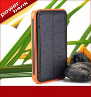 Wholesale Four color mAh Dual USB Waterproof Solar Power Bank Battery Charger for Cell Phone