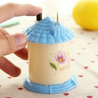 Wholesale Fashion Creative House Shaped Automatic Toothpick Holder Pocket Small Toothpick Box