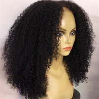 baby curl hair - Peruvian Kinky Curly Front Lace Human Hair Wigs Unprocessed Hair Deep Curl Glueless Full Lace Wig With Baby Hair