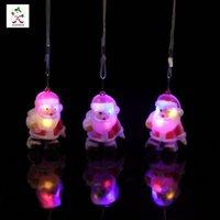 Wholesale 2016 New Arrivals Christams Plastic Santa claus LED light pendant Decorations Santa Claus Figure Festival Party Decoration LED Toys
