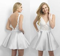 best hot cocktails - Best Selling Ivory Short Mini Homecoming Dresses Cheap V Neck Lace Top Party Gown Sexy Backless Cocktail Gown Cheap Hot Sale