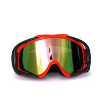 Wholesale 2016 New Arrived Google Motor Goggles Bike Cross Flexible goggles Tinted UV fashion goggle motorcycle glass eye protect T815