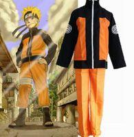 Wholesale Cosplay anime costume Naruto Uzumakie jacket shippuden Ninjae Clothes Halloween Costumes Cosplay