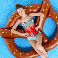 Wholesale Swimming Pool Toys Bread Swimming Ring Inflatable Pool Float Donut Pool Inflatable Floats Pool Toys cm jy508