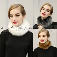 Wholesale Fashion Winter Warmer Fur Collar Neckerchief Scarves Imitation Faux Fur Soft Neck Wrap Scarf For Women Z440