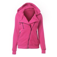 Wholesale Cashmere Sweaters Women S Clothing - Sweatshirt clothes hoodie Sweater Zipper Woman Leisure Time Solid Color Even Midnight sudaderas hoodies cotton sport women long sleeve