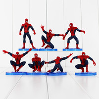 action figures spider man - Marvel The Avengers Spider Man set Spiderman PVC action Figures PVC dolls birthday Christmas gift