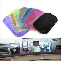 automotive silicone - 2015 Paste mat automotive silicone mat cell phone magic car mat phone Anti slip mats Sticky Pad For mp3 mp4 Car Magic asm TOPB3153