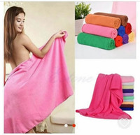 bath towels cheap - DHL or EMS fast shipping Cheap price x140cm Absorbent Microfiber Drying Bath Beach Towel Washcloth Swimwear Shower