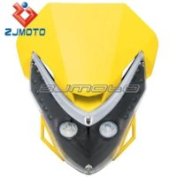 Wholesale ZJMOTO Motorcycle Universal Street Fighter Fairing Dirt Bike Black Headlamp For Suzuki DRZ DRZ250 DRZ400 RMX RM125