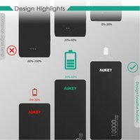 Wholesale AUKEY powerbank Quick Charge mAh Portable External Battery Fast Charger W V V V Quick Charger power bank for Smartphone