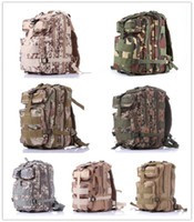Wholesale 2016 Hot Men Women Outdoor Military Army Tactical Canvas Backpack Camping Hiking Trekking Sport Camouflage Backpack P Tactical backpack