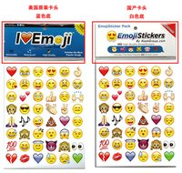 Wholesale Free DHL Emoji Sticker Pack Emoji Stickers Most Popular Emojis For Mobile Phone Kids Rooms Home Decor Tablet Sheets Pack ZD093B