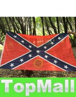 Wholesale LAI Confederate Battle Flags Two Sides Printed Consfederate Flag Confederate Rebel Civil War Flag National Polyester Flags