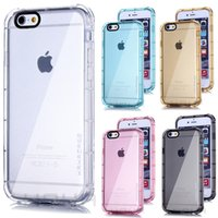 anti rubber - Hahacase Brand Original Shockproof Rubber Slim Armor Clear Soft TPU Anti Knock Case Cover Skin for iPhone S Plus quot inch MOQ