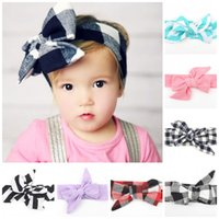 Cotton baby bow bandeau - 10 colors Baby Kids Toddler Big Knot DIY Headbands Print Headwrap Colorful Bow Knot Baby Hair Band Hair Ribbon Bandeau Accessories