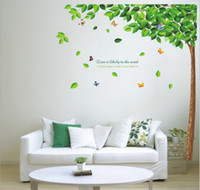 Wholesale wall sticker home decoration living room wall stickers happy sweet green trees CM large creative wall stickers