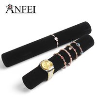 Wholesale cm black velvet jewelry organizer bracelets display hair jewellery storage tube