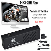 Wholesale MK808B Plus Amlogic M805 TV Dongle Quad Core TV Box G RAM G ROM H Hardware Decode Bluetooth DLNA Miracast Android TV Stick