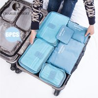 bamboo shoe brand - 6pcs set New Storage Bags Brand Travelling Suitcase Storage Bags Sets High Quality Polymer Clothes amp shoes Organizer