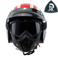 2016 Máscara Nuevo Diseño Matt Negro de la motocicleta del motocrós que compite con Beon Anteojos para la cara abierta del casco de los vidrios de la mascarilla del tamaño libre para la mayoría