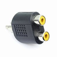 Wholesale The audio line double lotus lotus revolution mother RCA a two cable adapter audio splitter