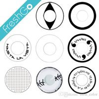 Wholesale White Out Halloween Contacts Manson Crazy Contacts White Mesh Lens Large Stock