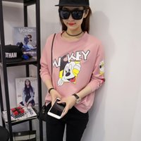 Wholesale Batwing coat of new fund of autumn winters cartoon loose long sleeved T shirt fleece ms Korean students B17