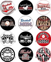 baseball cubes - baseball MOM glass Snap button Jewelry Charm Popper for Snap Jewelry good quality Gl354 jewelry making