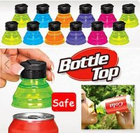 beverage can caps - Creative Soda Savers Toppers Reusable Bottle Caps Can Convert more safe and convenient to drink beverage
