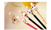 baby pen favors - 12PCS Kids birthday party supply gift souvenirs for girl boy Cute bear rabbit Gel Pen baby shower favors