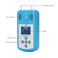 Wholesale Oxygen Meter Portable Oxygen O2 Concentration Detector with LCD Display and Sound light Alarm air quality monitor gas analyzer