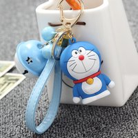 Wholesale New Cute Doraemon Classic Style Little Bells Keychain Pendant For Bag Purse Car Pendants Ornament Japanese Animation And Comic Fans