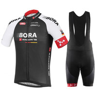 bicycle flags - Bora Argon Cycling Jerseys Set Black Short Sleeve With Cool Max Padded Bib Trousers Germany France Flag Men Bicycle Clothing XS XL